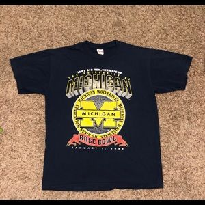 Vintage Michigan Wolverines Rose Bowl T-shirt
